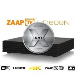 ZAAPTV HD609N med 1500 kanaler og 3 år abonnement inkludert