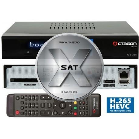 OCTAGON SF128 E2 HEVC H.265 HD BLUE
