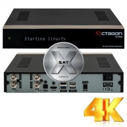 OCTAGON SF4008 UHD 4K med 2xDVB-SX2