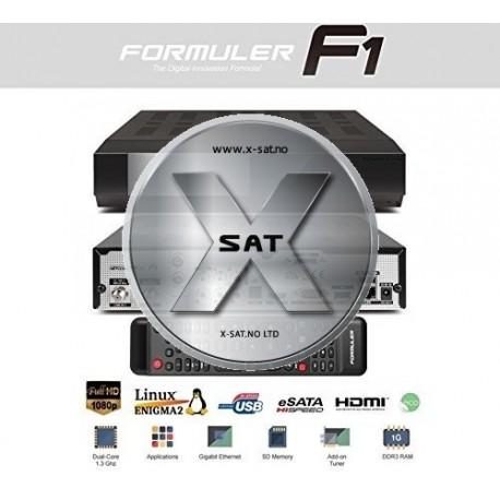 Formuler F1 HD med 2xDVB-S2 satellitt og 1xDVB-T2-T-C